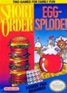 Complete Eggsplode/Short Order Power Pad Game - NES