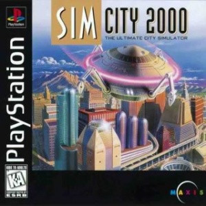 Complete SIM City 2000 - PS1 Game