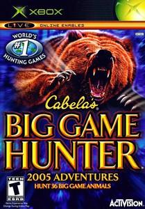 Cabela's Big Game Hunter 2005 Adventure Microsoft Xbox Game