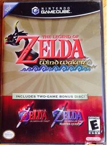 Legend of Zelda Wind Waker w/Bonus Disc Ocarina & Master Quest - GameCube Game