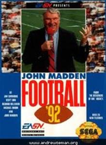 Complete Madden Football 92 - Genesis