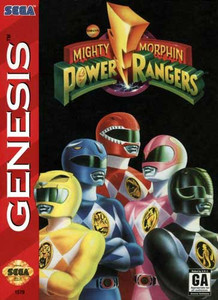 Complete Mighty Morphin Power Rangers - Genesis Game