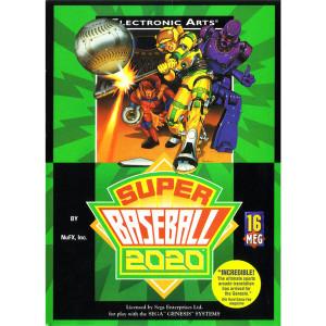 Super Baseball 2020 Complete Game For Sega Genesis