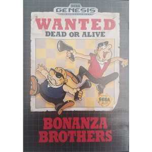 Bonanza Brothers Complete Game For Sega Genesis