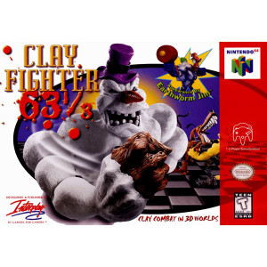 Clay Fighter 63 1/3 Complete Game For Nintendo N64