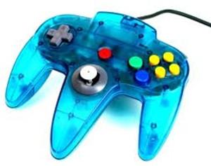 Original Controller Clear Blue - Nintendo 64 (N64)