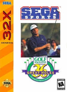 36 Great Holes Fred Couples - Genesis 32X Game