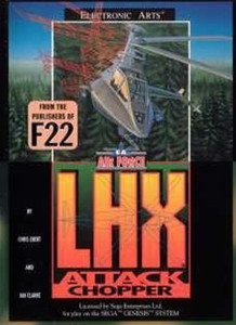 LHX Attack Chopper - Genesis Game