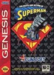 Superman The Death and Return - Genesis Game