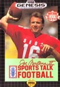 Sports Talk Football Joe Montana II - Genesis Game