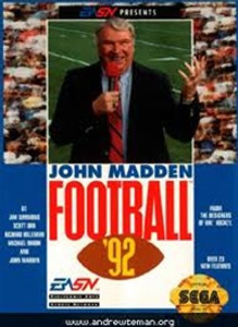 John Madden Football '92 - Genesis Game