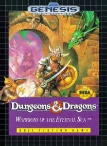 Dungeons & Dragons Warriors Eternal Sun - Genesis Game