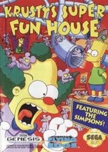 Krusty's Super Fun House - Genesis Game