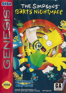 Simpson's Bart's Nightmare - Genesis Game