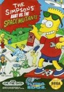 Simpson's Bart vs the Space Mutants - Genesis Game