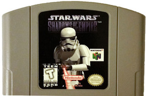 Star Wars Shadows of The Empire Nintendo 64 N64 video game cartridge image pic