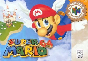 Super Mario 64 Nintendo 64 N64 video box art cover cartridge image pic