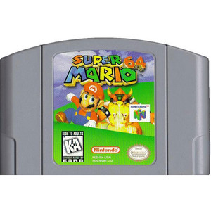 Super Mario 64 Nintendo 64 N64 video game cartridge image pic