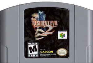Resident Evil 2 Nintendo 64 N64 video game cartridge image pic