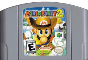 Mario Party 2 Nintendo 64 N64 video game cartridge image pic