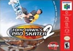 Tony Hawk's Pro Skater 2 Nintendo 64 N64 video game box art image pic