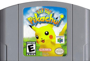 Hey You, Pikachu! Nintendo 64 N64 game cartridge image pic