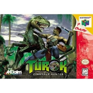 Turok Dinosaur Hunter Nintendo 64 N64 video game box art image pic