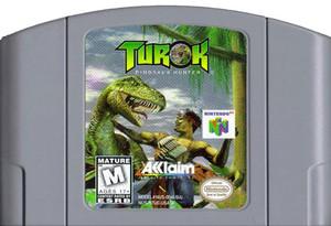 Turok Dinosaur Hunter Nintendo 64 N64 video game cartridge image pic