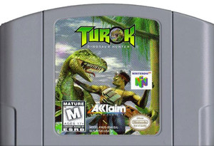 Turok Dinosaur Hunter Nintendo 64 N64 video game cartridge image pic