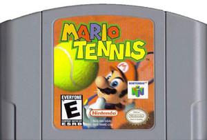 Mario Tennis Nintendo 64 N64 video game cartridge image pic