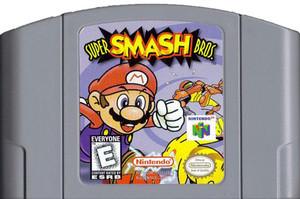Super Smash Bros. Nintendo 64 N64 video game cartridge image pic
