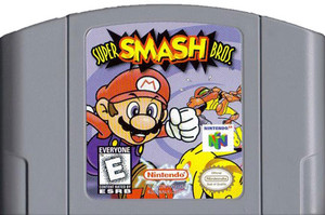 Super Smash Bros. Nintendo 64 N64 video game cartridge image pic