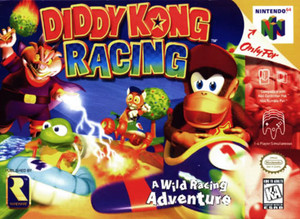Diddy Kong Racing Nintendo 64 N64 video game box art image pic