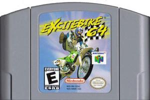 Excitebike 64 Nintendo 64 N64 video game cartridge image pic