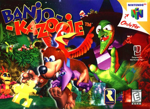 Banjo Kazooie Nintendo 64 N64 video game box art image pic
