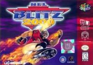 NFL Blitz 2000 Nintendo 64 N64 video game box art image pic