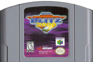 NFL Blitz 2000 Nintendo 64 N64 video game cartridge image pic