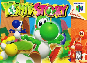 Yoshi's Story Nintendo 64 N64 video game box art image pic
