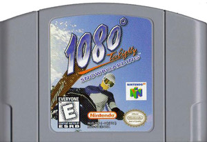 1080 Snowboarding Nintendo 64 N64 video game cartridge image pic