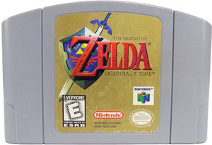 Legend of Zelda Ocarina of Time Nintendo 64 N64 video game cartridge image pic