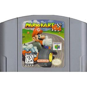 Mario Kart 64 Nintendo 64 N64 video game cartridge image pic