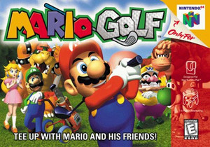 Mario Golf Nintendo 64 N64 game box image pic