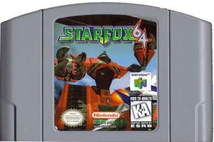 Star Fox 64 Nintendo 64 N64 video game cartridge image pic