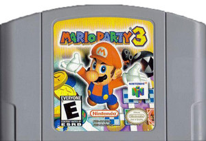 Mario Party 3 Nintendo 64 N64 video game cartridge image pic