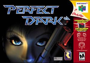 Perfect Dark Nintendo 64 N64 video game box art image pic