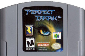 Perfect Dark Nintendo 64 N64 video game cartridge image pic