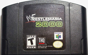 Wrestlemania 2000 Nintendo 64 N64 video game cartridge image pic