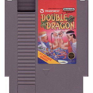 Double Dragon Nintendo NES game cartridge image pic