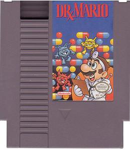 Dr. Mario Nintendo NES game cartridge image pic
