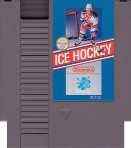 Ice Hockey Nintendo NES game cartridge image pic